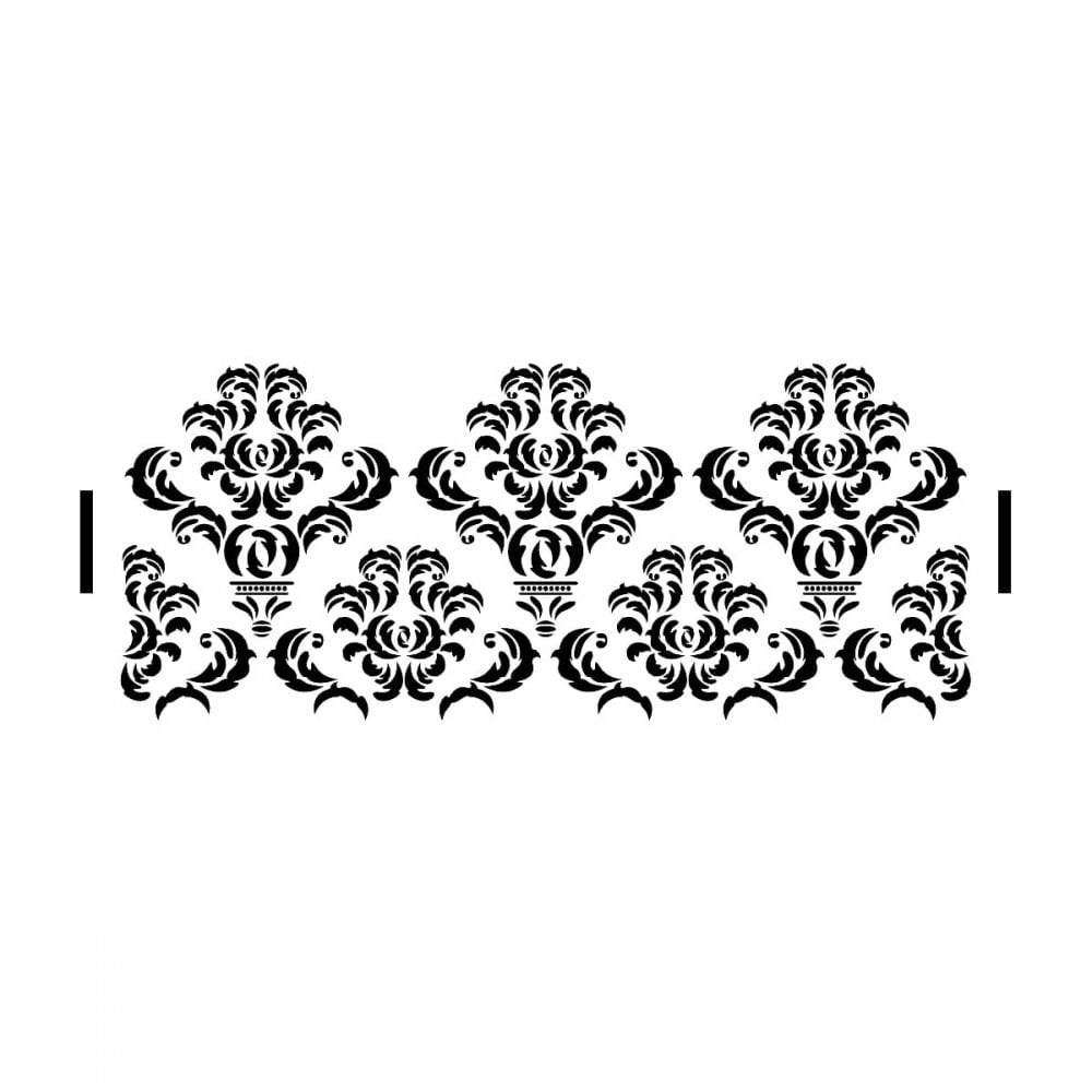 Decadent Damask Stencil| Elegant Cake Craze Cake Stencils - Free Printable Lace Stencil