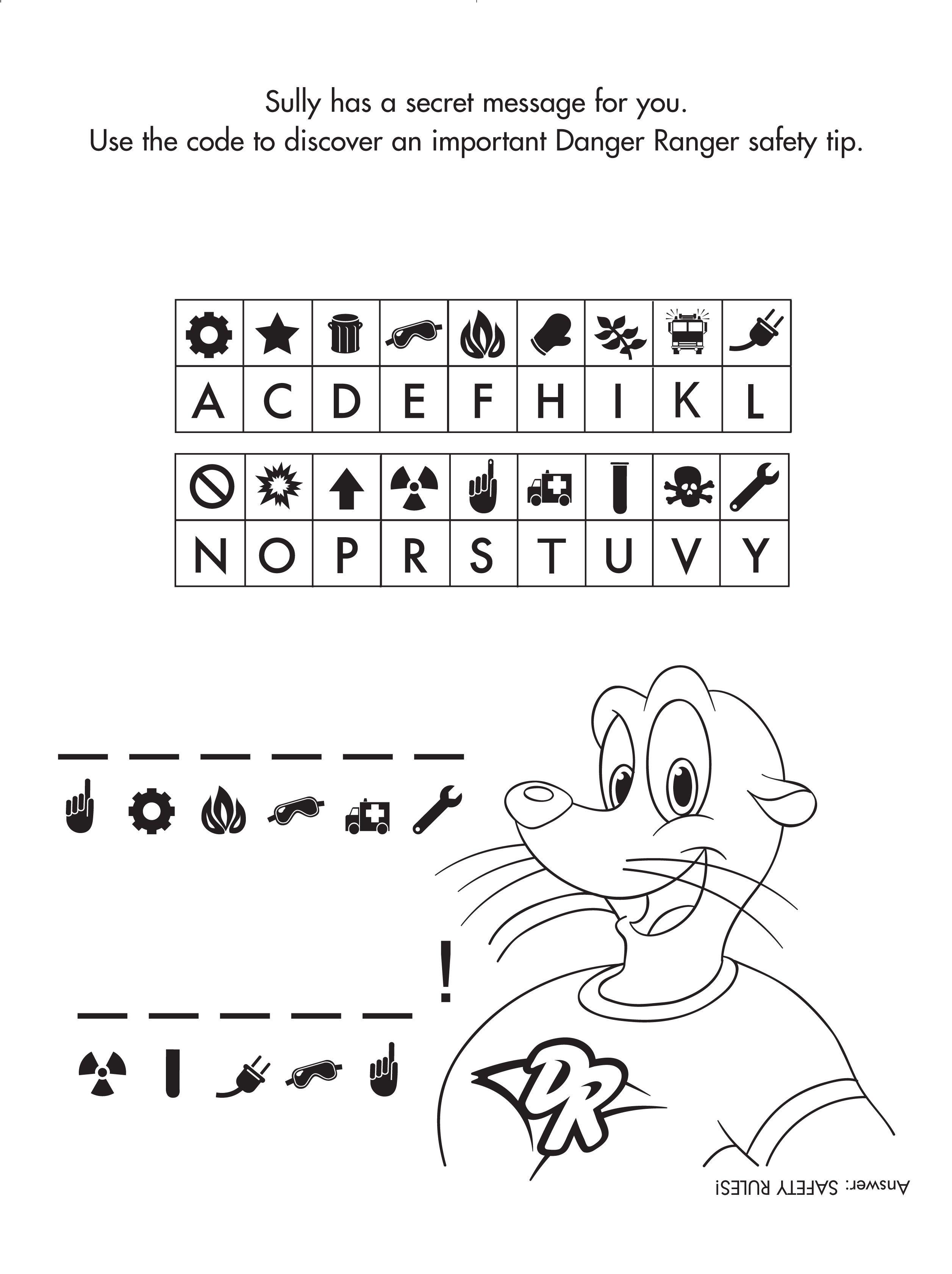 Decode This Danger Ranger's Secret Message! #freeprintable - Free Printable Activity Sheets For Kids