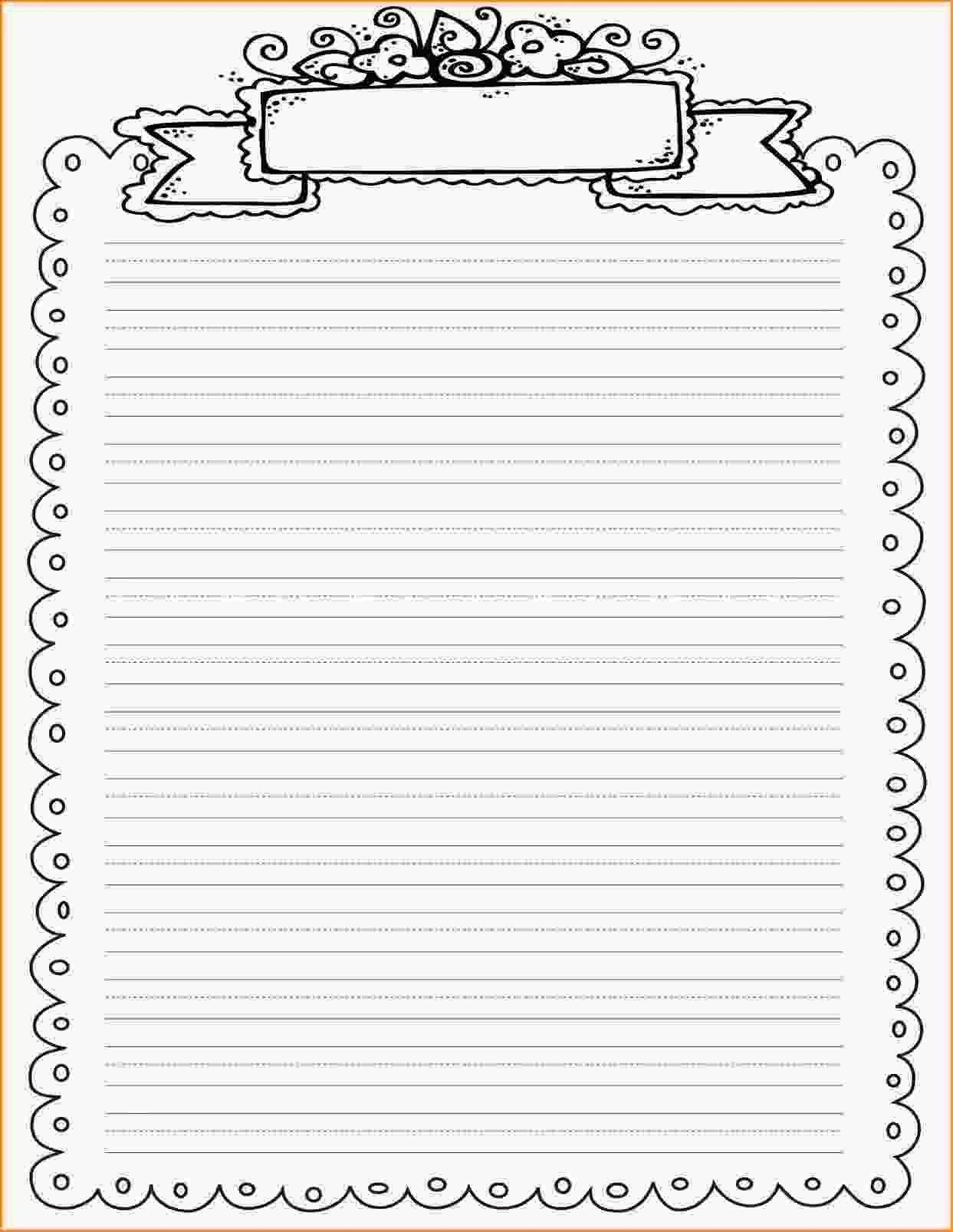 Decorative Border Lined Paper | Vectorborders - Free Printable Writing Paper With Borders