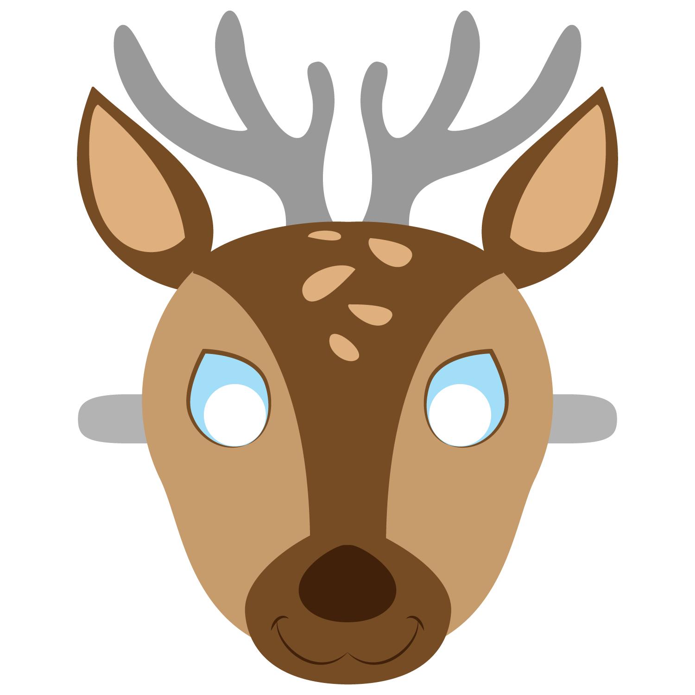Deer Mask Template | Free Printable Papercraft Templates | Camping - Free Printable Paper Masks