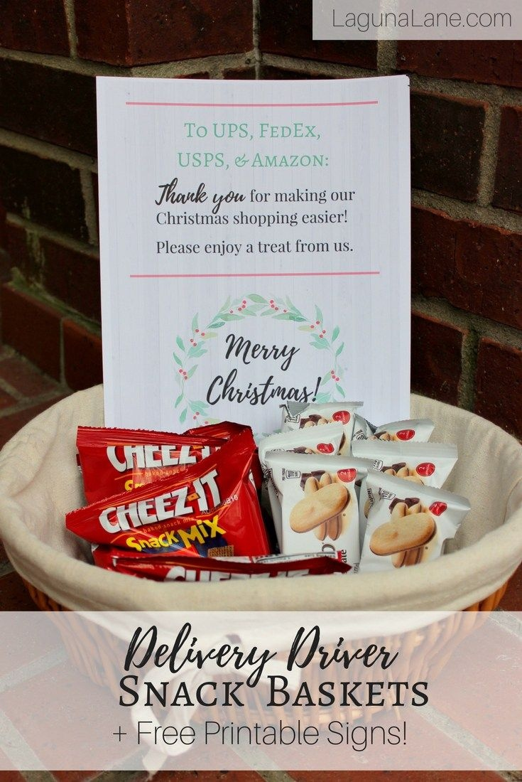 Delivery Driver Snacks + Free Printable Thank You Signs! | Laguna - Free Printable Out Of Service Sign