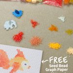 Designer Downloads   Free Printable Seed Bead Graph Paper   Artbeads   Free Printable Bead Loom Patterns