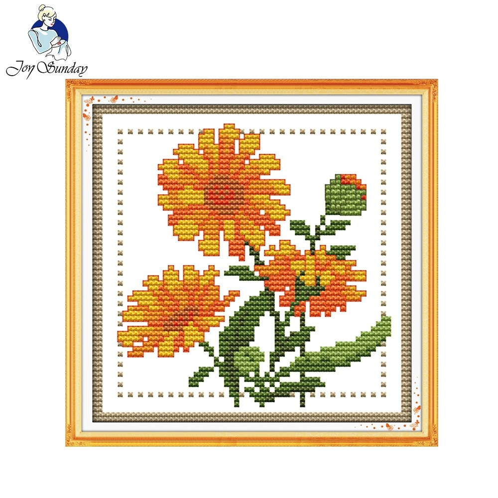 Detail Feedback Questions About Joy Sunday Floral Style Twelve - Free Printable Cross Stitch Patterns Flowers