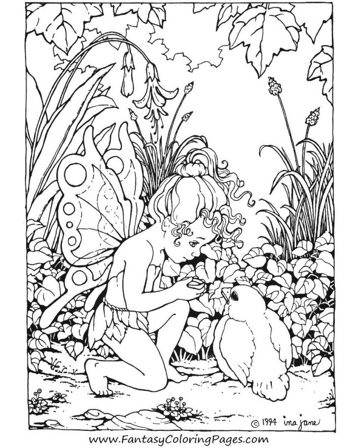 Free Printable Coloring Pages Fairies Adults