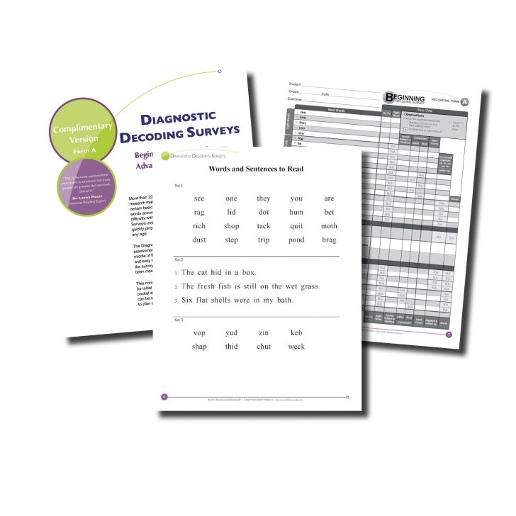 Free Printable Diagnostic Reading Assessments