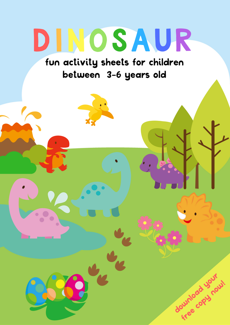 Dinosaur Activity Sheets For 3-5 Years Old | Free Printable Pack - Free Printable Activities For 6 Year Olds