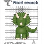 Dinosaur Word Search Free Printable | Word Search | Free Printables   Free Printable Dinosaur Word Search