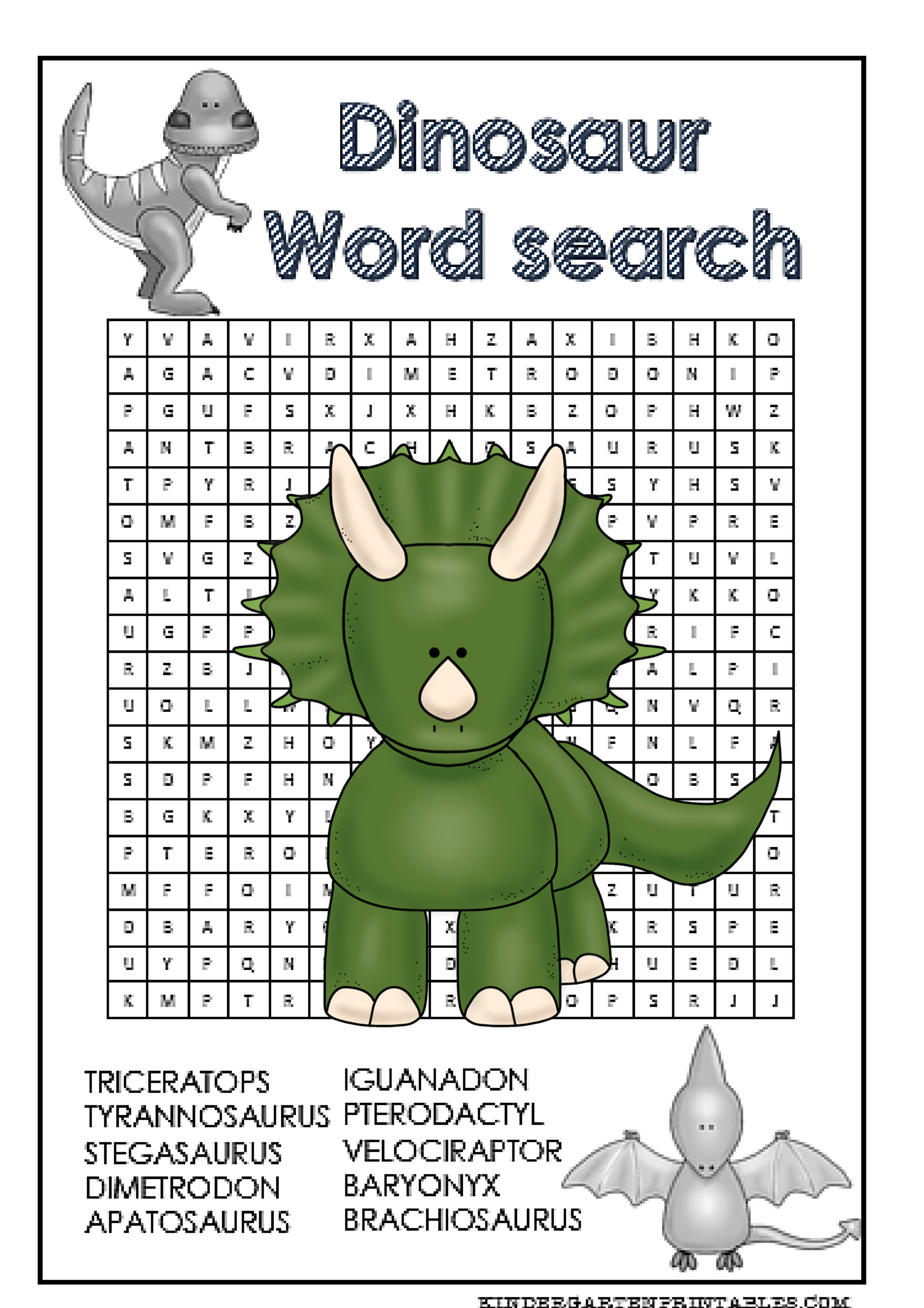 Dinosaur Word Search Free Printable | Word Search | Free Printables - Free Printable Dinosaur Word Search