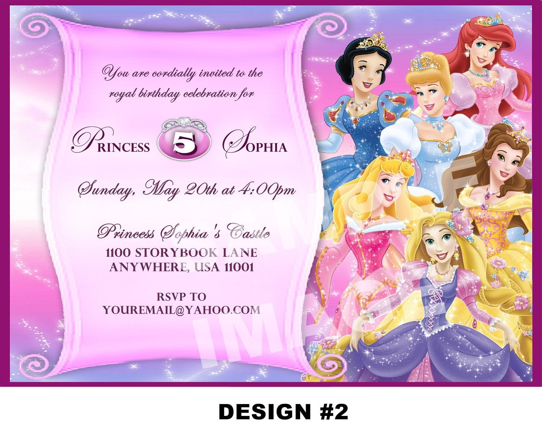 Disney Princess Birthday Invitation Card Maker Free   Baby Shower - Disney Princess Birthday Invitations Free Printable