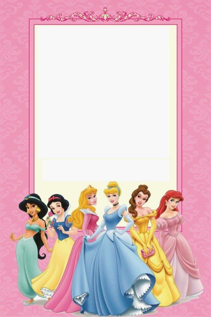 Disney Princess Party: Free Printable Mini Kit.   Free Printables - Disney Princess Birthday Invitations Free Printable