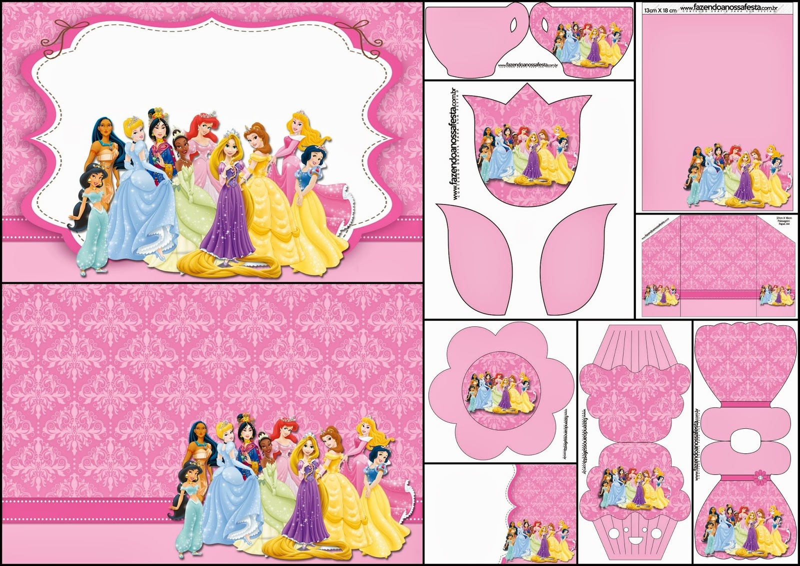 Disney Princess Party: Free Printable Party Invitations. - Oh My - Disney Princess Free Printable Invitations