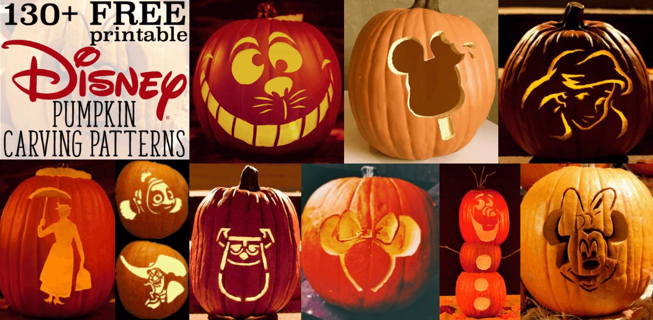 Disney Pumpkin Stencils: Over 130 Printable Pumpkin Patterns - Halloween Pumpkin Carving Stencils Free Printable