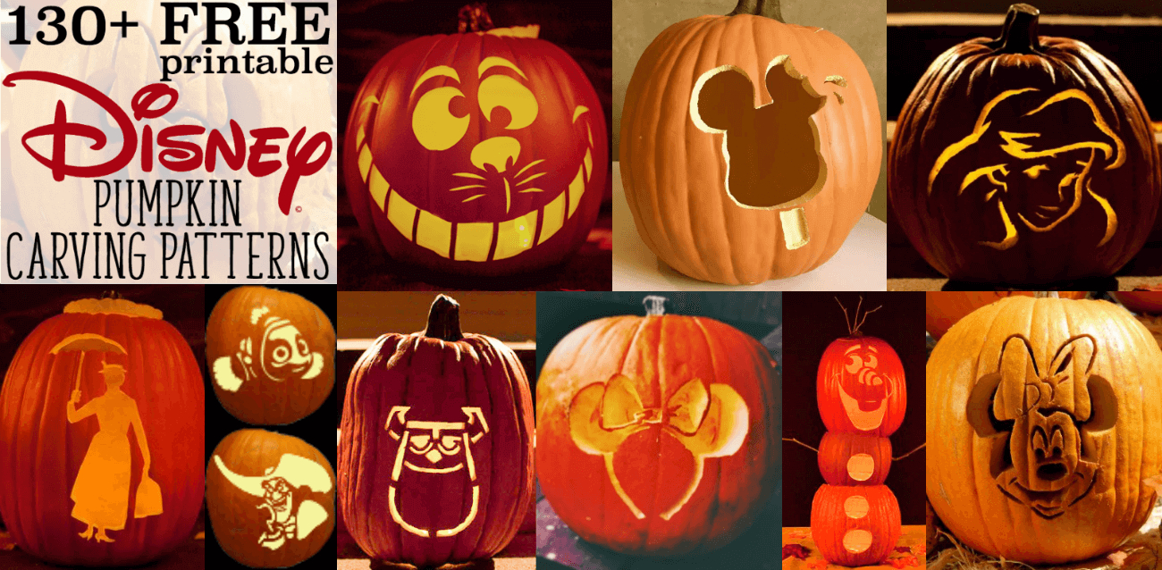 Disney Pumpkin Stencils: Over 130 Printable Pumpkin Patterns - Jack O Lantern Patterns Free Printable