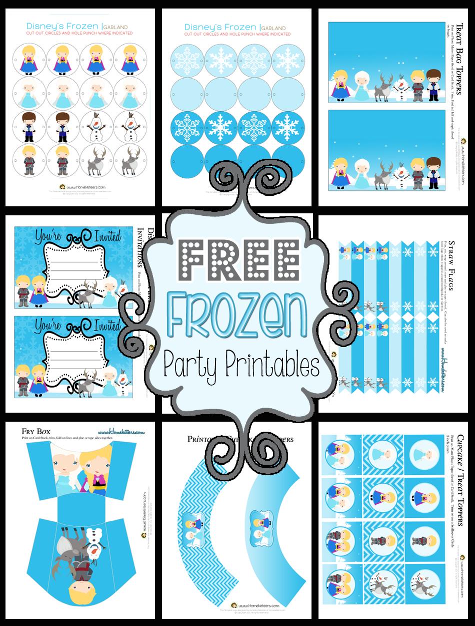 Disney's Frozen Party Printables ~ Free - Frozen Birthday Banner Printable Free