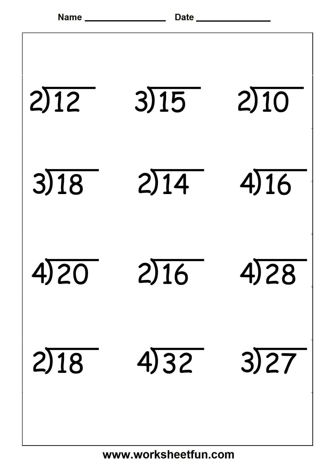 Division - 9 Worksheets | Printable Worksheets | 3Rd Grade Division - Free Printable Division Worksheets