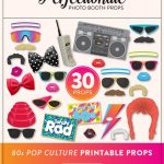 Diy 80S Photo Booth Props 30 Printable 80S Props Instant   Etsy   80S Photo Booth Props Printable Free