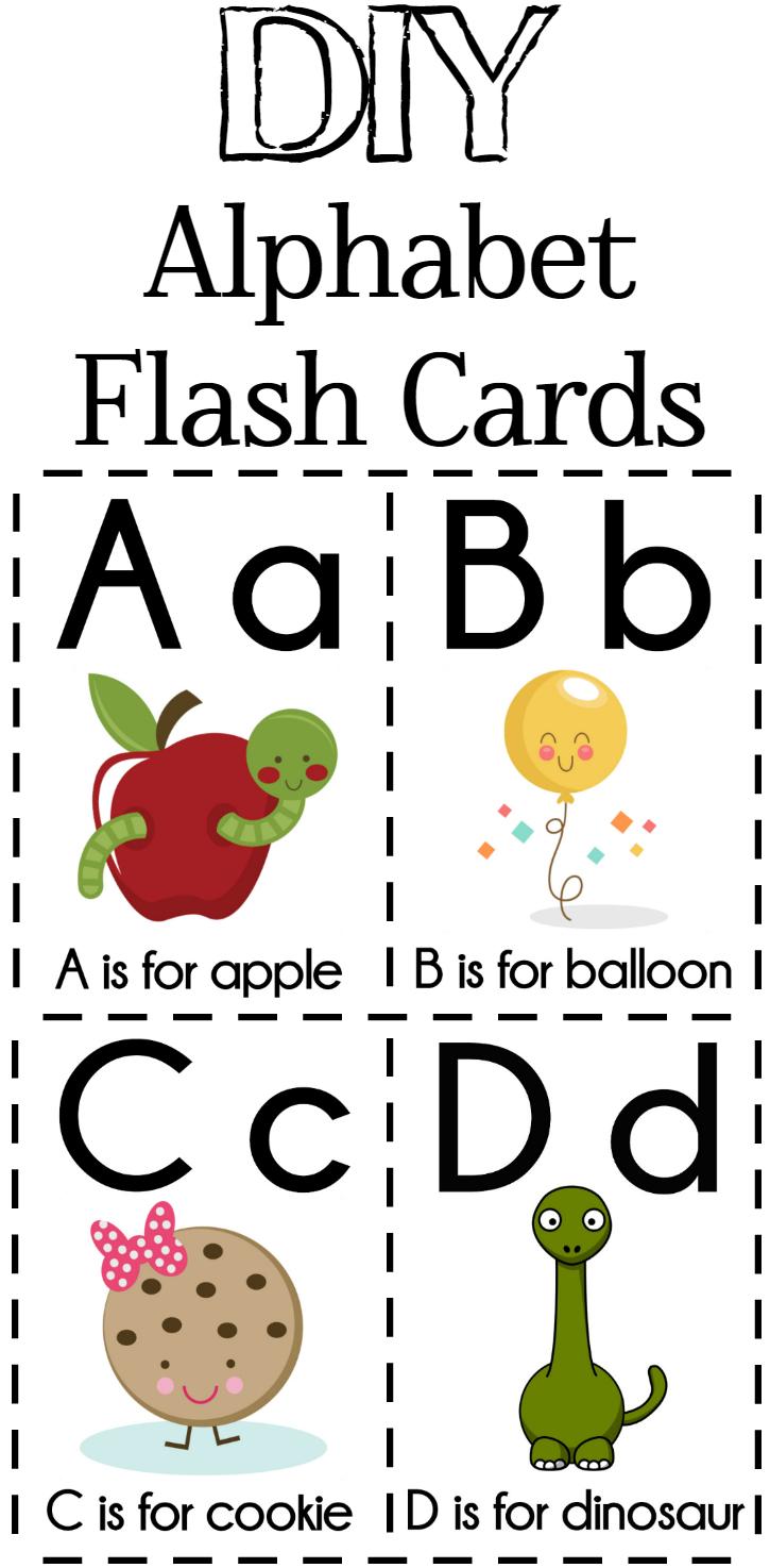 Diy Alphabet Flash Cards Free Printable | Plays | Preschool Learning - Free Printable Alphabet Flash Cards