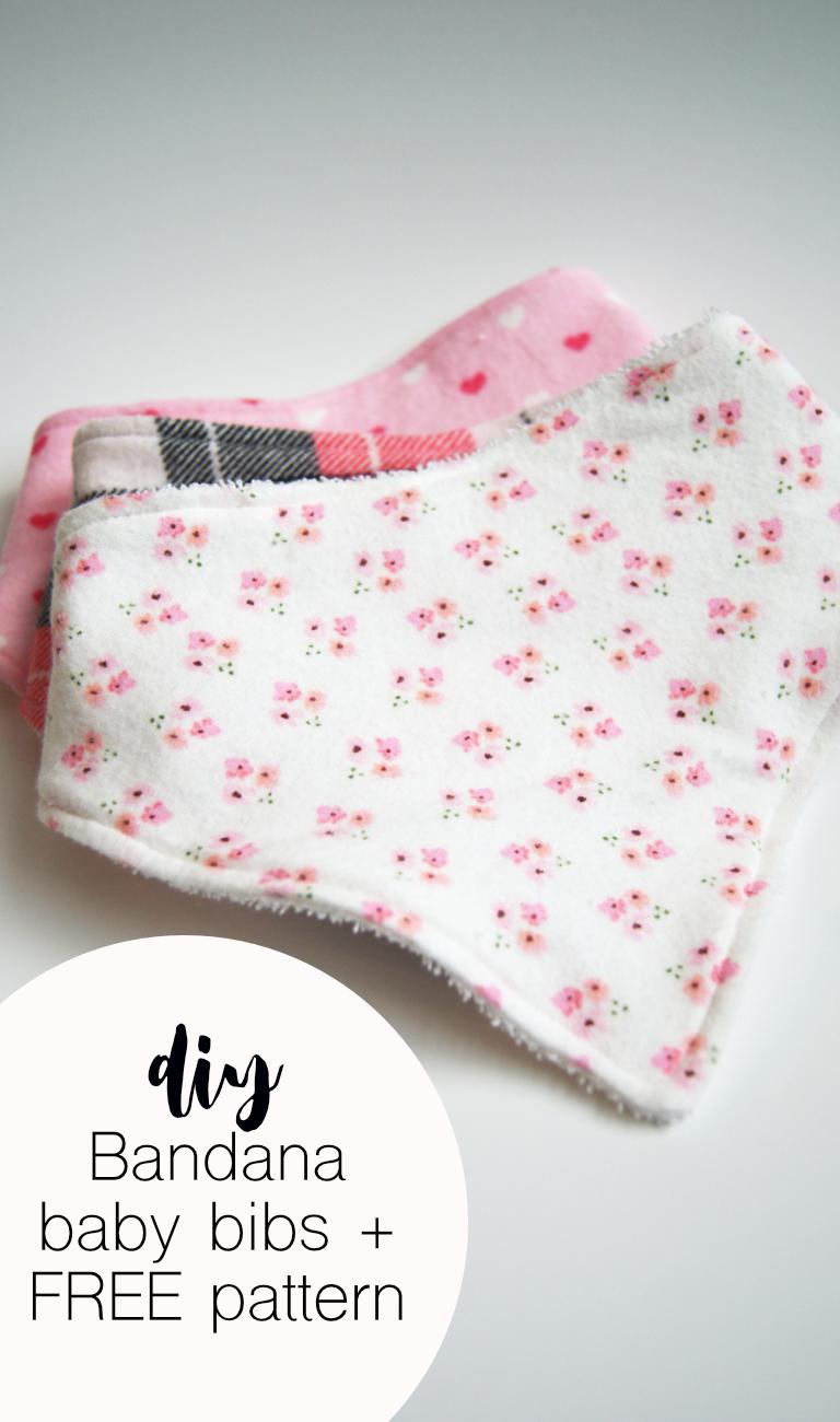 Diy Baby Bandana Bibs + Free Printable Pattern   The Refined - Free Printable Baby Bandana Bib Pattern