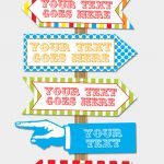 Diy Carnival Directional Sign   Carnival Party   Circus Party   Free Printable Carnival Signs