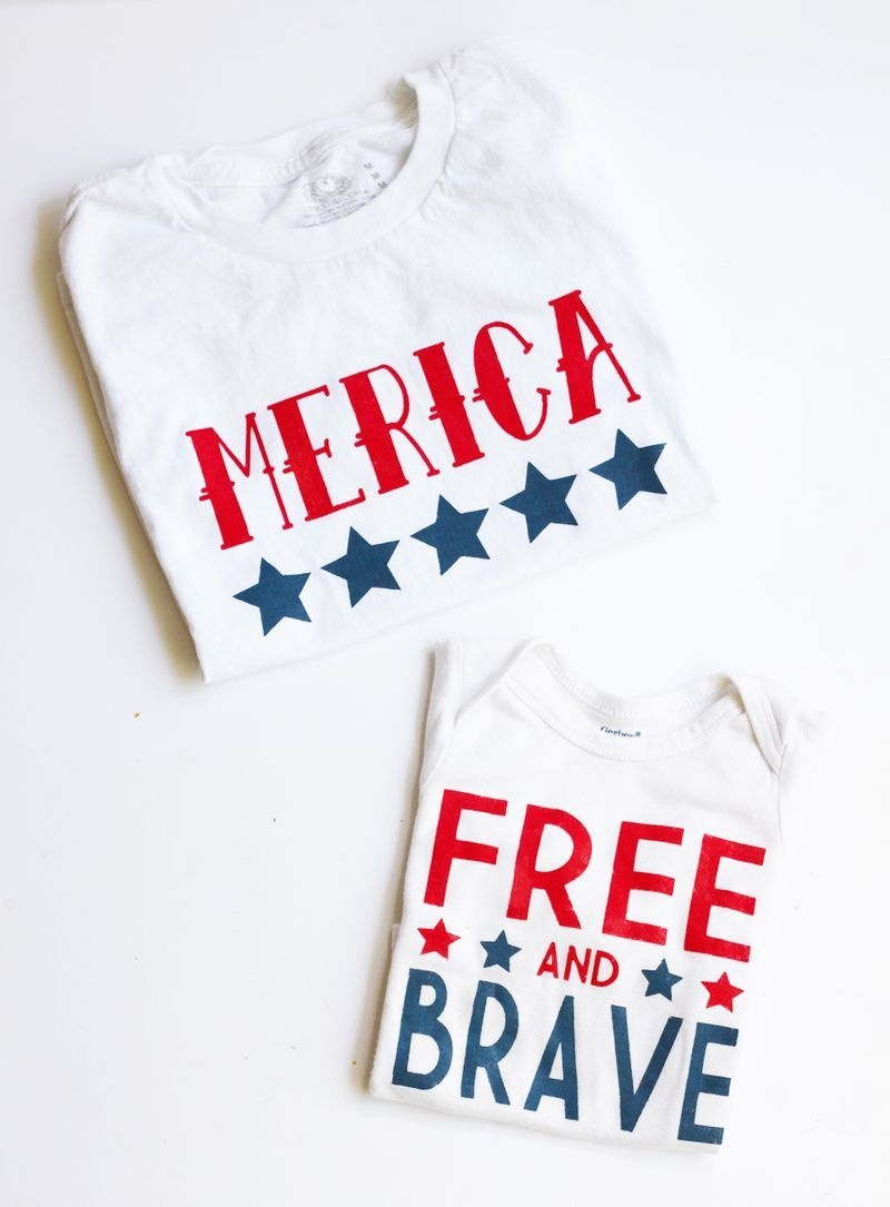 Diy Fourth Of July Shirts | Ksw & Co. Crafts | Fourth Of July Shirts - Free Printable Iron On Transfers For T Shirts