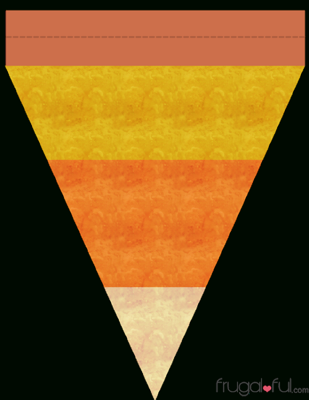 Diy} Free Printable Halloween Triangle Banner Template | Frugalful - Free Printable Halloween Banner Templates