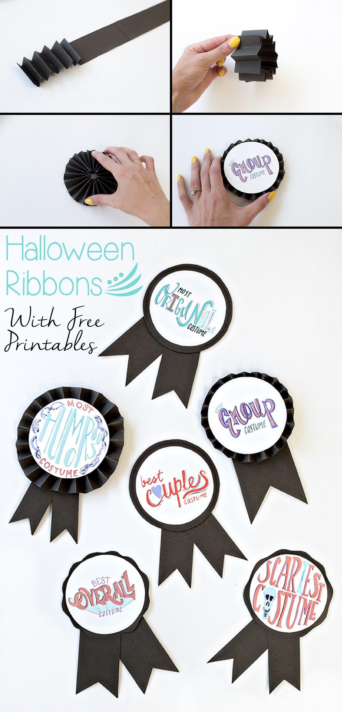 Diy Halloween Costume Award Ribbons (+ Free Printable | Free - Free Printable Halloween Award Certificates