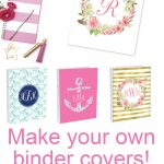 Diy Monogram Binder Covers Using Free Monogram Templates | Free   Free Printable Monogram Binder Covers