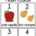 Diy Number Flash Cards Free Printable | Preschool | Numbers   Free Printable Number Cards