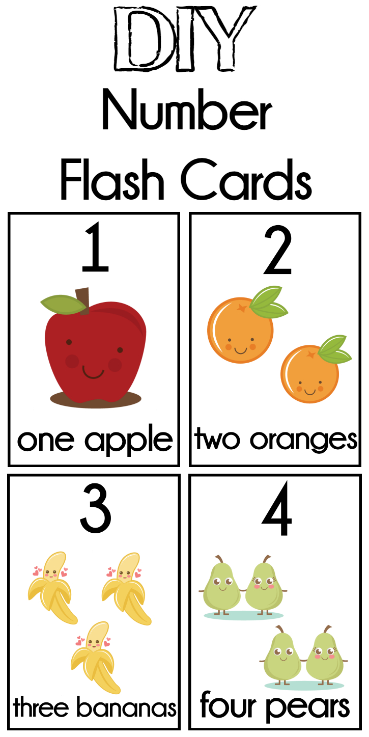 Diy Number Flash Cards Free Printable | Preschool | Numbers - Free Printable Number Cards