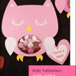 Diy Owl Valentines Candy Cards + Free Printable! | Valentine's Day   Free Printable Owl Valentine Cards