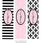 Diy Paris Themed Birthday Water Bottle Labels Printable File. | Etsy   Free Printable Paris Water Bottle Labels