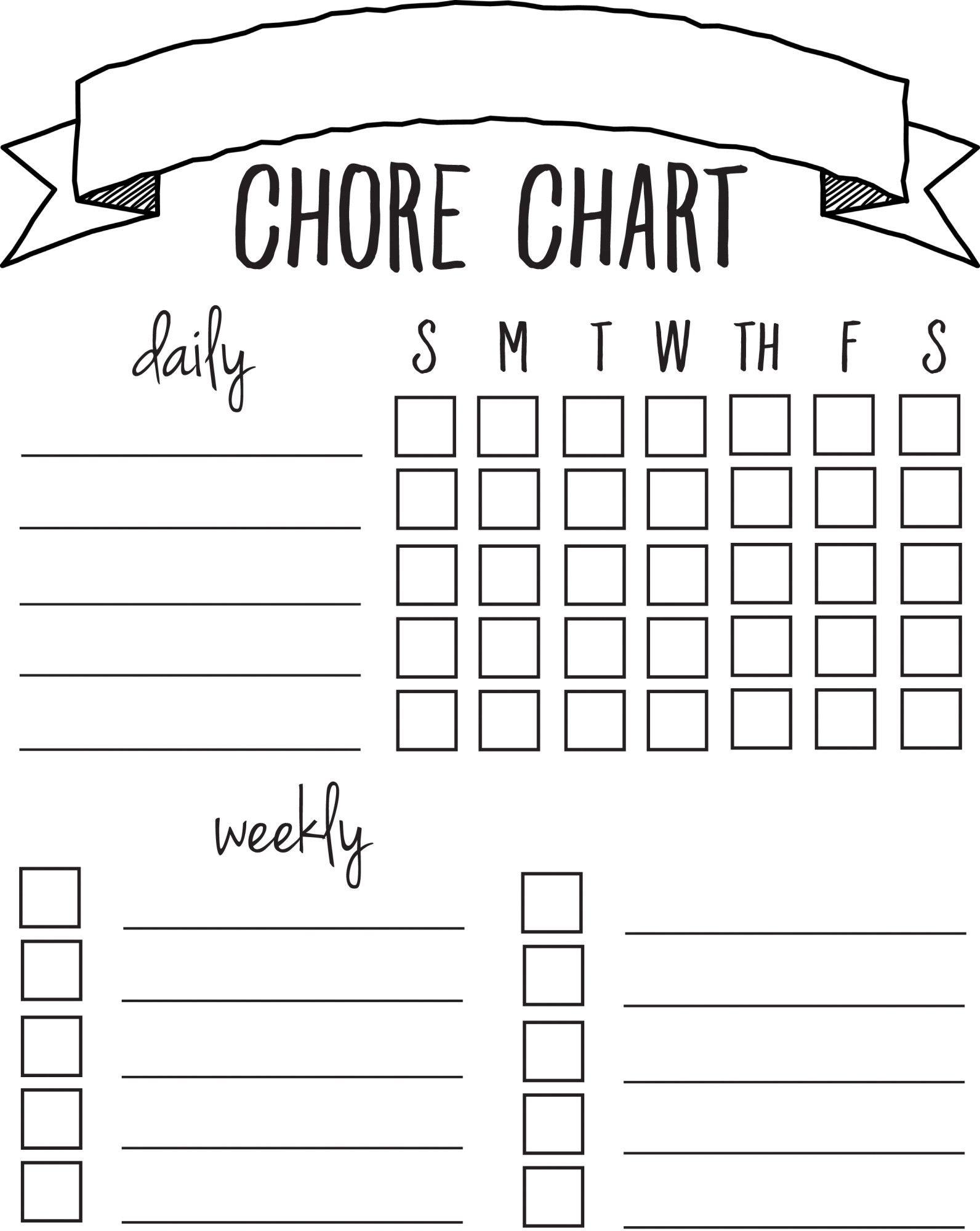 Diy Printable Chore Chart   Free Printables Nov/feb   Chore Chart - Chore Chart For Adults Printable Free