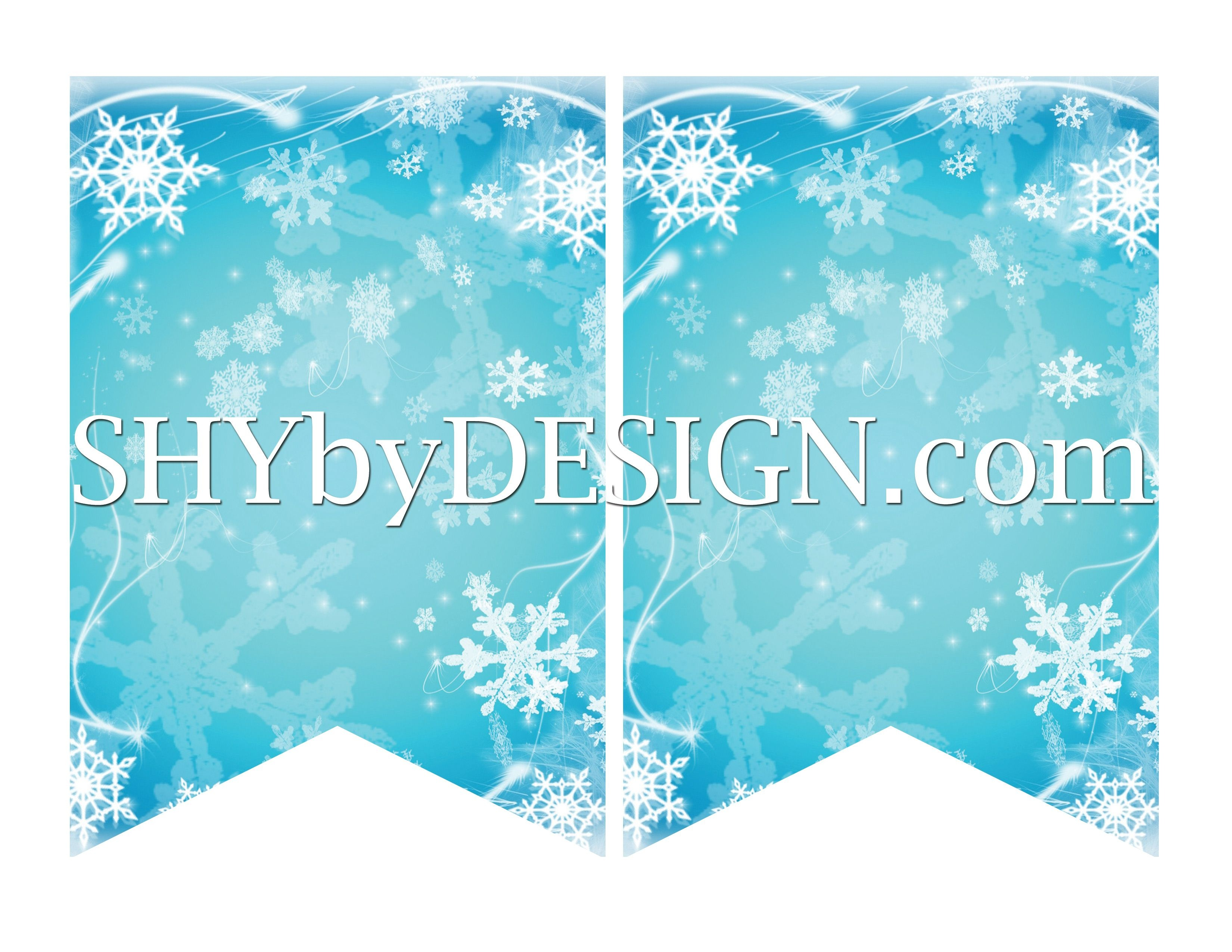 Diy Printable Frozen Banner & Your Own Letters From Shybydesign - Frozen Birthday Banner Printable Free