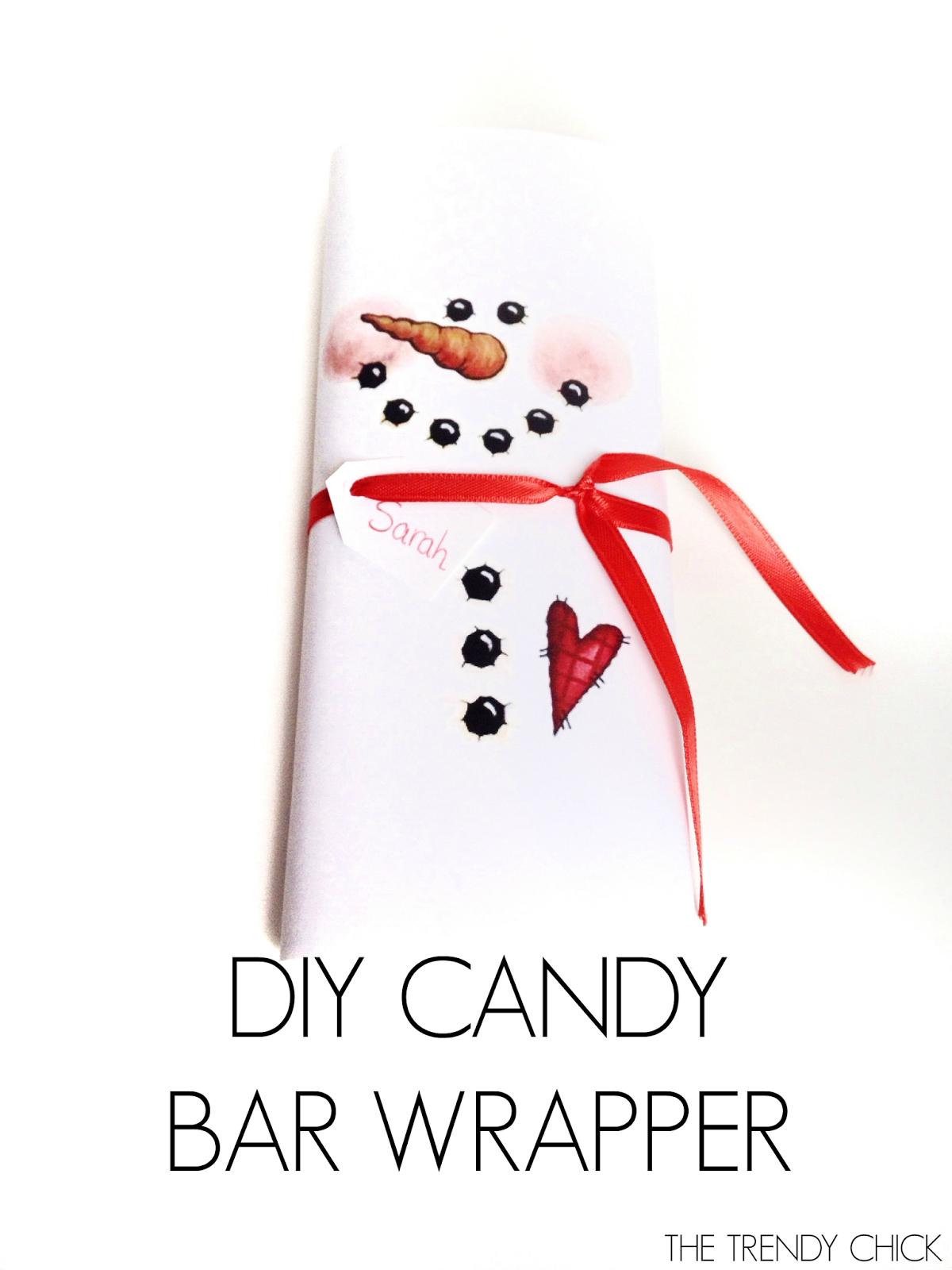 Diy Snowman Candy Bar Wrapper- 4 Easy Diy Christmas Gifts + Free - Free Printable Christmas Candy Bar Wrappers