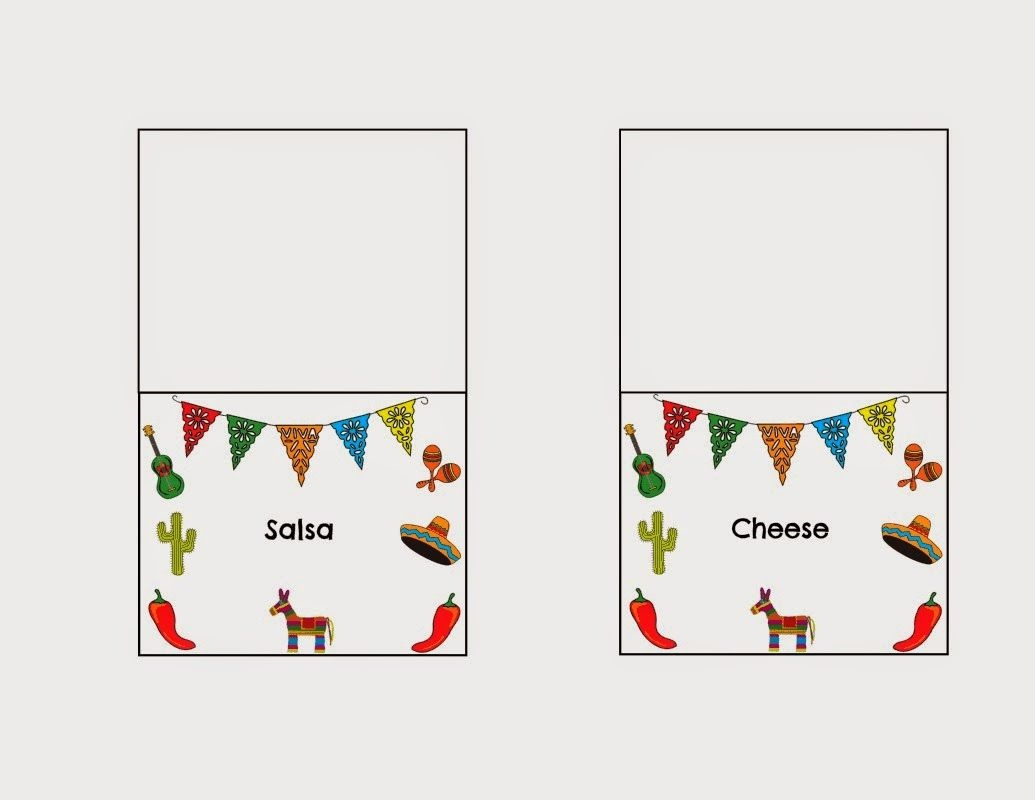 Diy Taco Bar Party - Table Tents Free Printables | Food | Taco Bar - Free Printable Taco Bar Signs