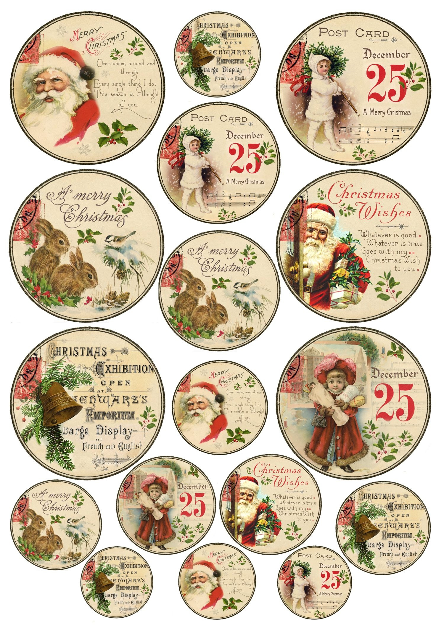 Diy Vintage Gold Christmas Gift Tags - Free Printable | Kerstmis - Diy Christmas Gift Tags Free Printable