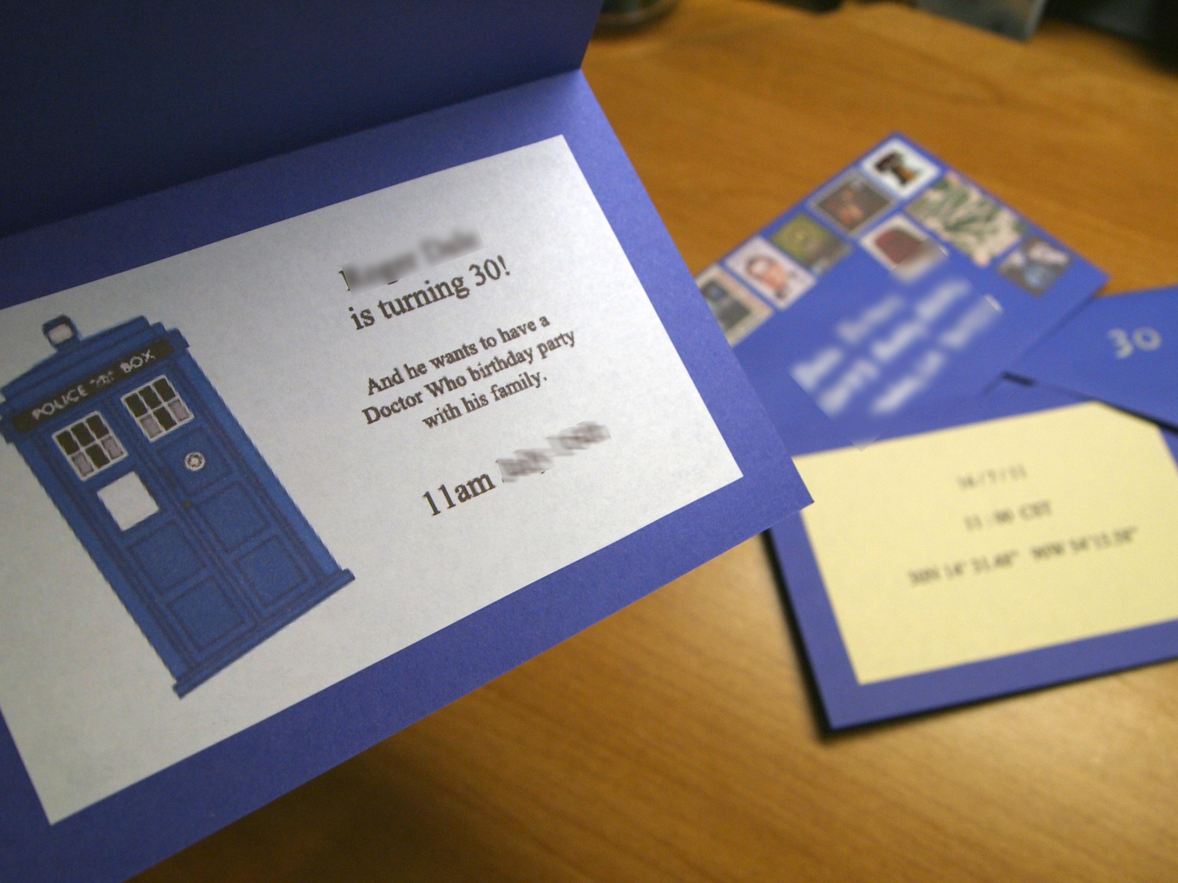 Doctor Who Invitations   Random Creativity - Doctor Who Party Invitations Printable Free