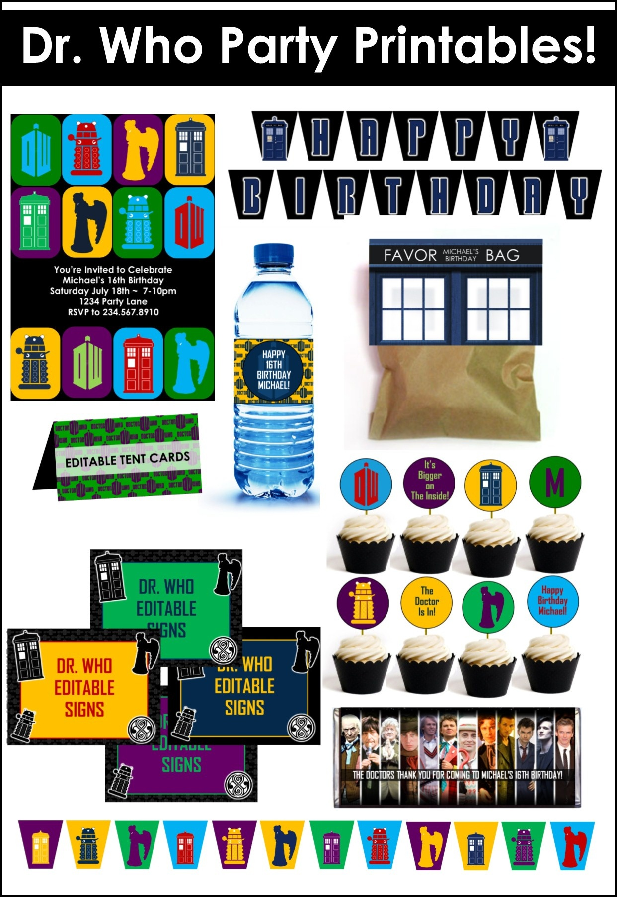 Doctor Who Party Game Ideas - Free Printable Dr Who Birthday Card