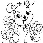Dog Coloring Pages For Adults Dog Colorings Easy Free Printable   Free Printable Dog Coloring Pages