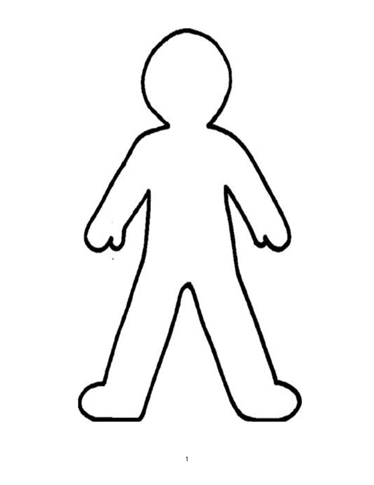 Doll Outline Template - Clipart Best   Printable   Person Outline - Free Printable Human Body Template