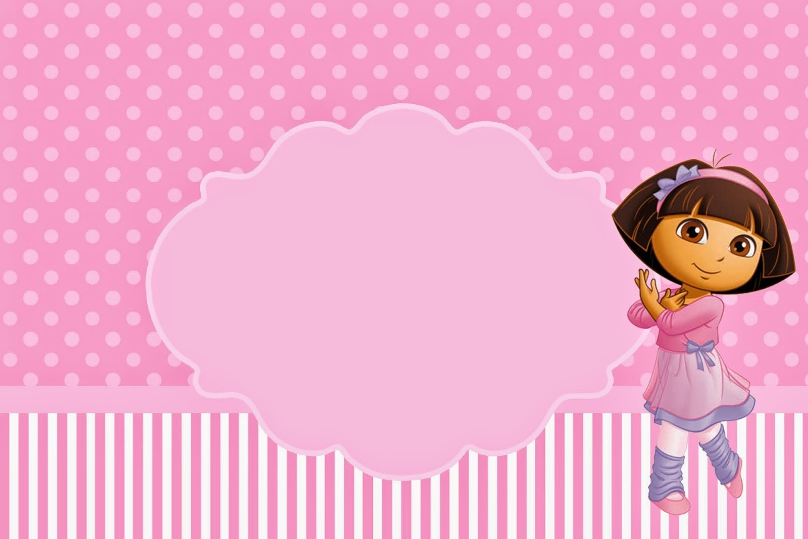 Dora Dancing Ballet: Free Printable Invitations. - Oh My Fiesta! In - Dora The Explorer Free Printable Invitations