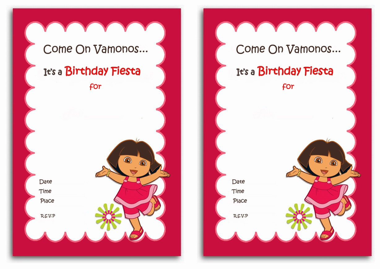 Dora | Feliz Cumpleanos From Dora The Explorer! Pack Your Kids - Dora The Explorer Free Printable Invitations