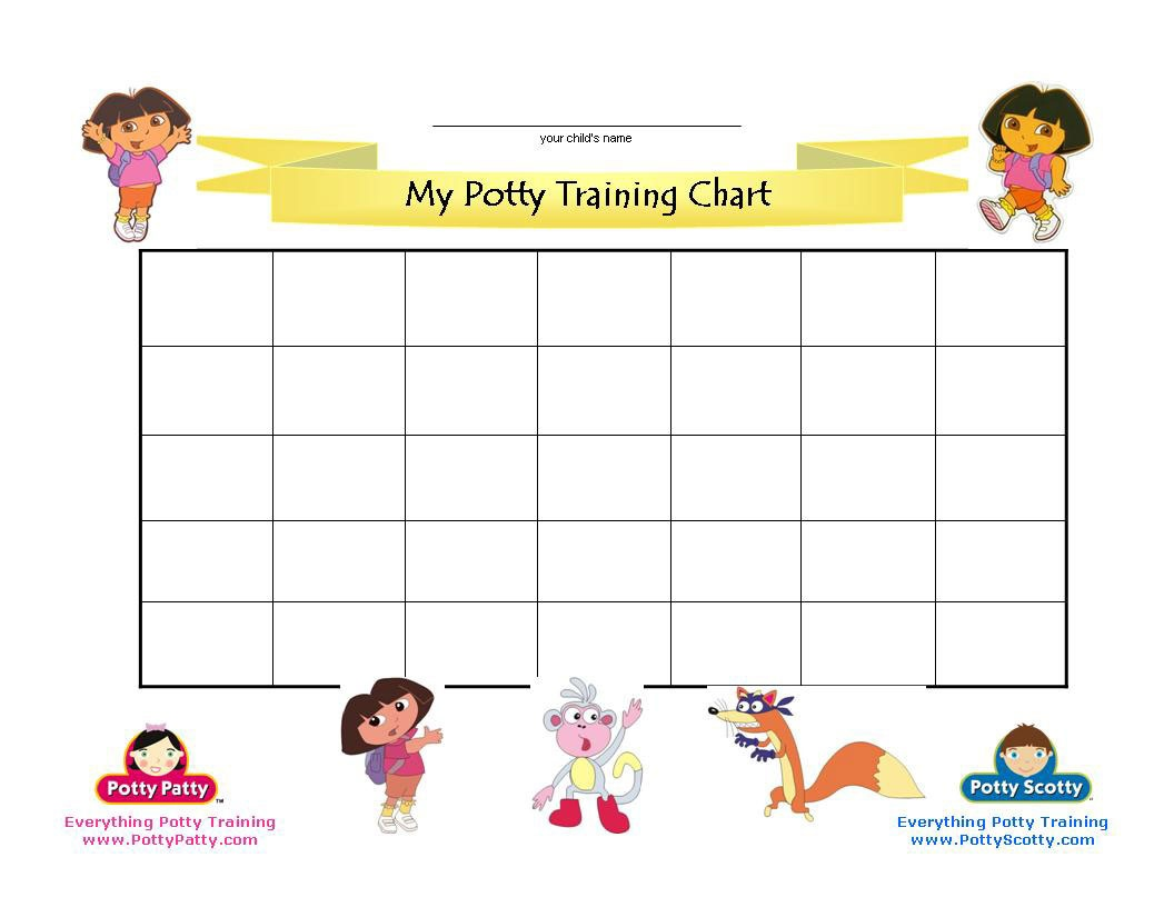Dora The Explorer Potty Training Chart | Potty Training Concepts - Free Printable Potty Training Charts