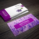 Doterra Business Cards With A Lavendar Field In The Background   Free Printable Doterra Sample Cards