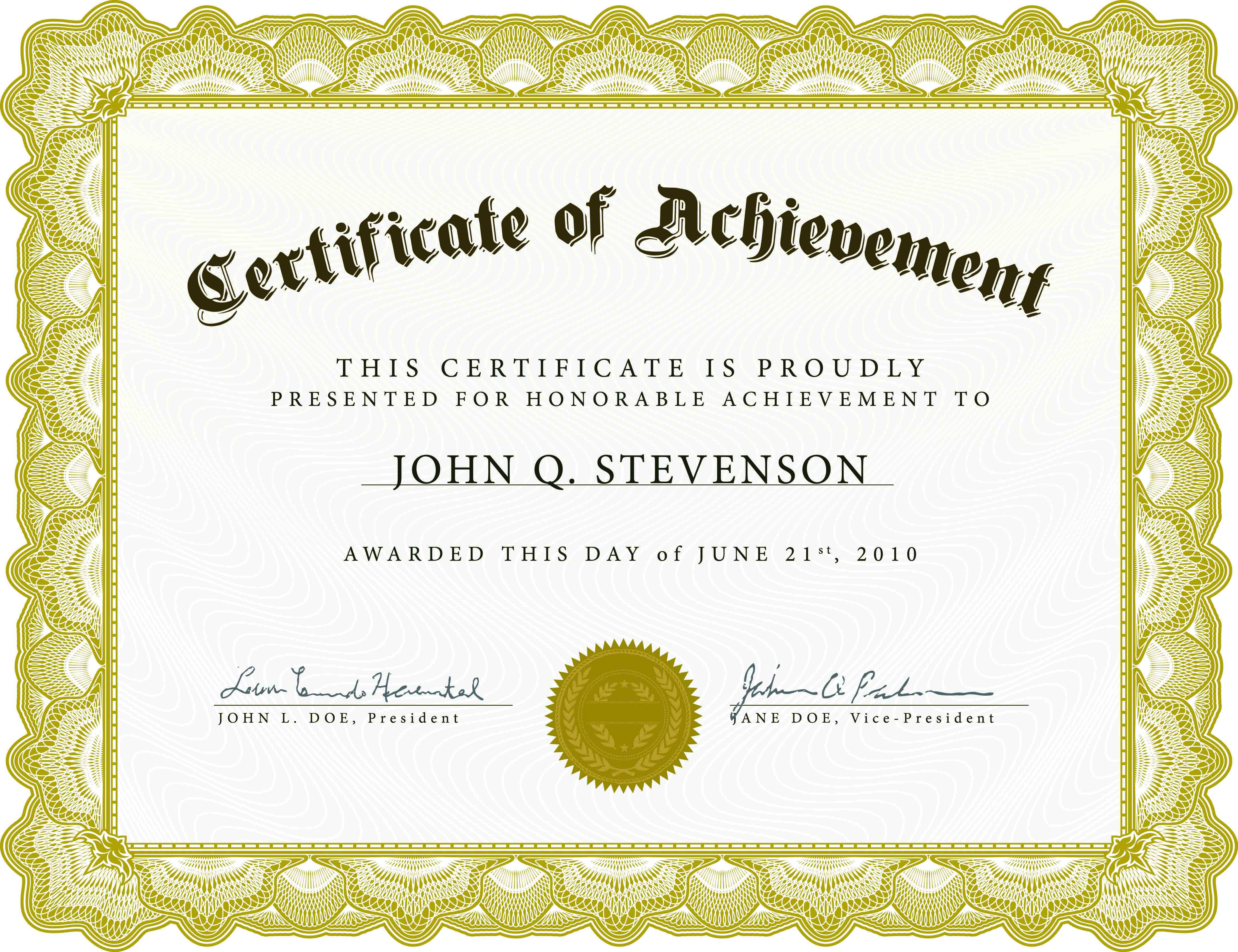 Download Blank Certificate Template X3Hr9Dto   St. Gabriel's Youth - Free Customizable Printable Certificates Of Achievement