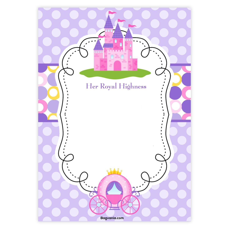 Download Free Princess Birthday Invitations | Invites In 2019 - Free Princess Printable Invitations