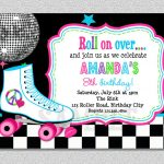 Download Free Template Free Printable Roller Skating Birthday Party   Free Printable Skating Invitations