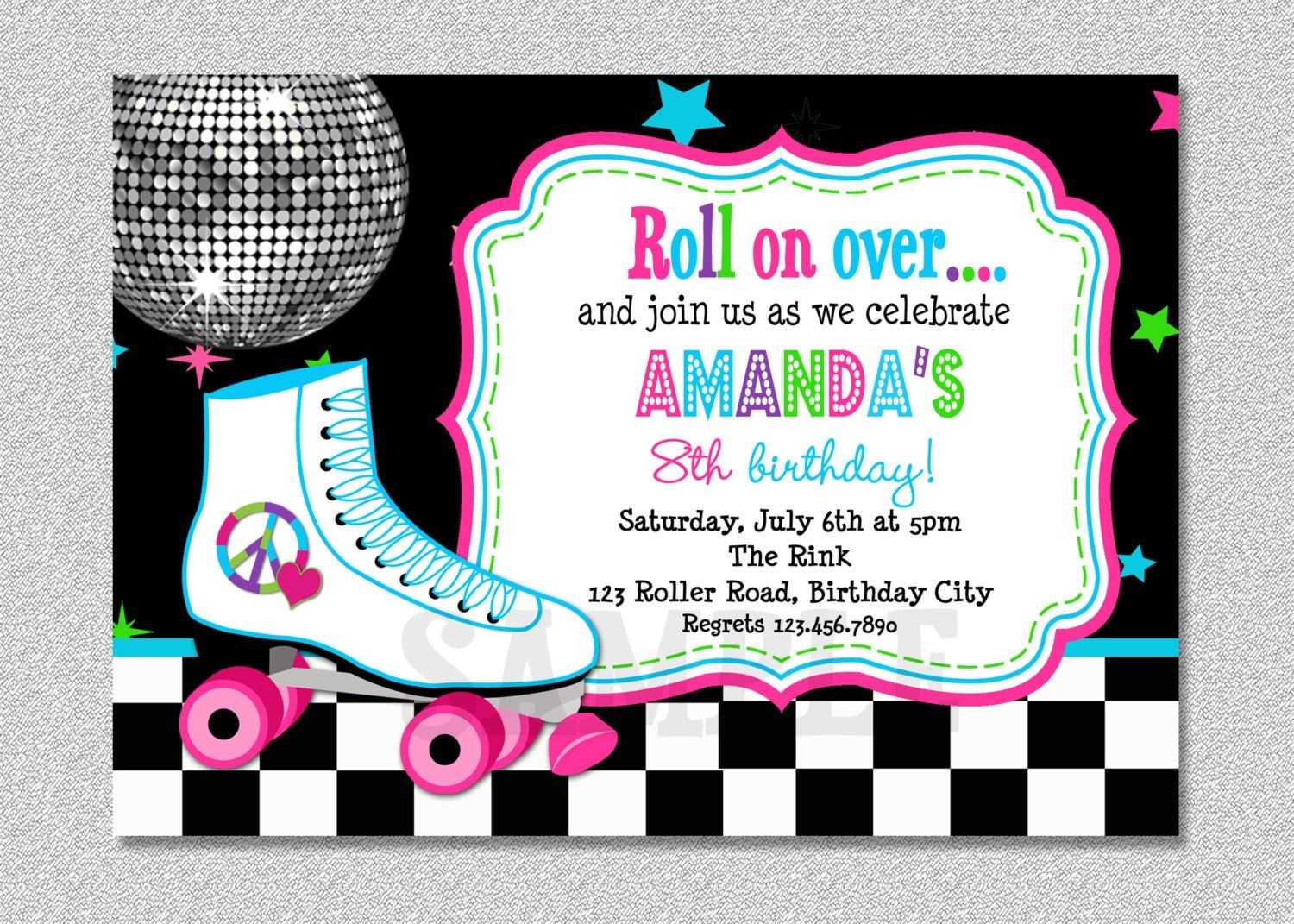 Download Free Template Free Printable Roller Skating Birthday Party - Free Printable Skating Invitations