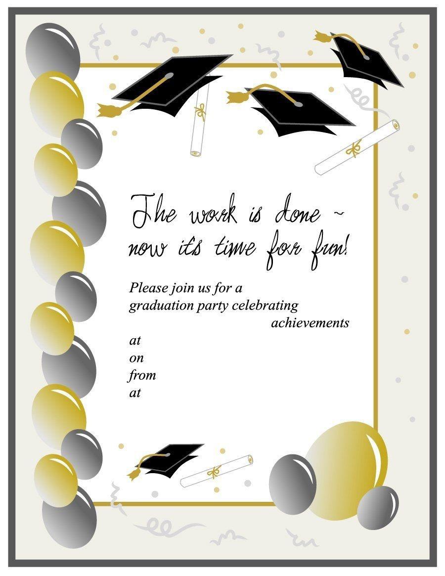 Download Graduation Invitation Templates 02 | Diploma Invitations - Free Printable Graduation Invitation Templates