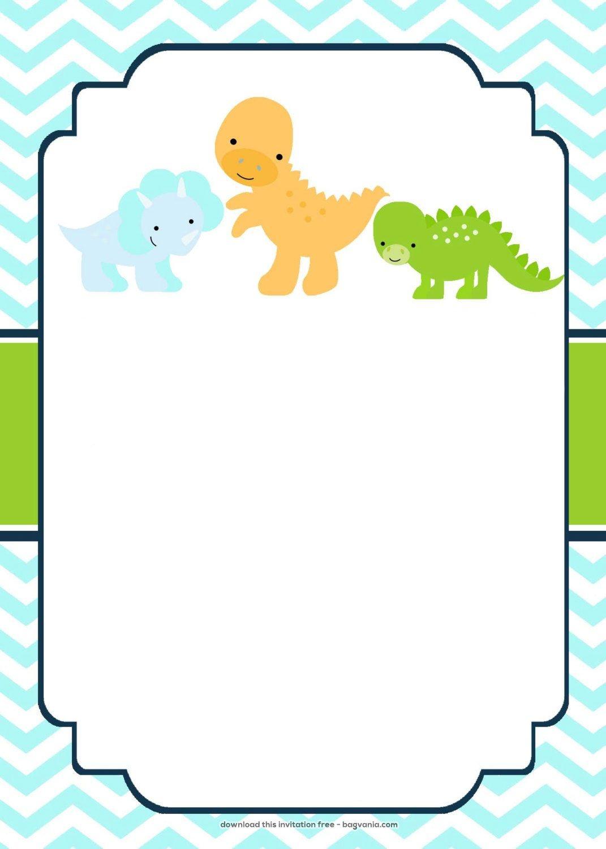 Download Now Free Dinosaur Birthday Invitations | Bagvania - Free Printable Dinosaur Baby Shower Invitations